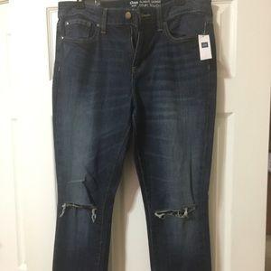 Brand new GAP Always Skinny distressed jeans